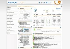 Dashboard Sophos UTM