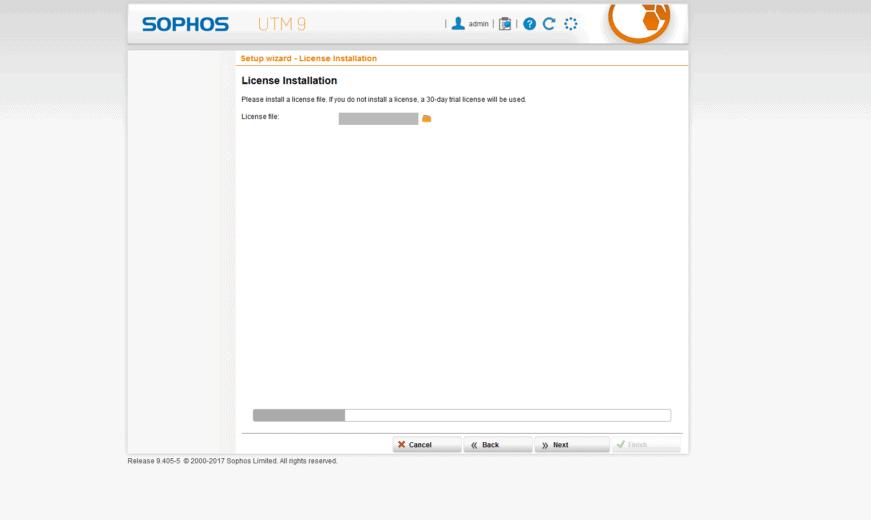 Sophos UTM Basic Setup - Lizenz