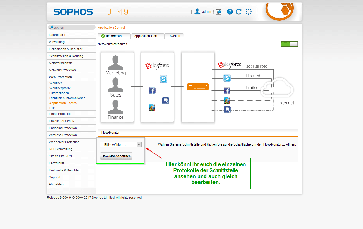 Sophos UTM Application Control - Übersicht