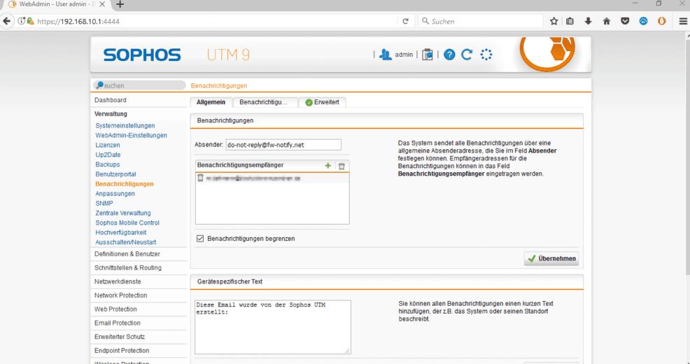 Sophos UTM SMTP Office 365