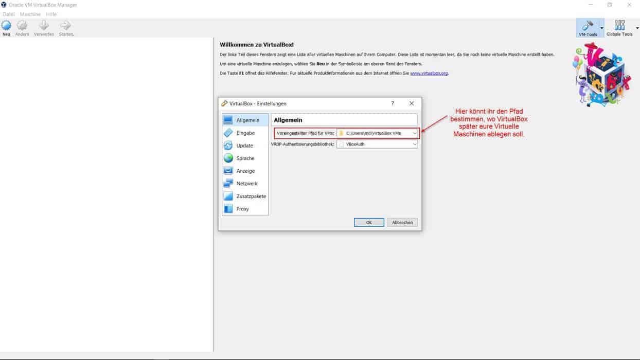 VirtualBox installieren Teil 12