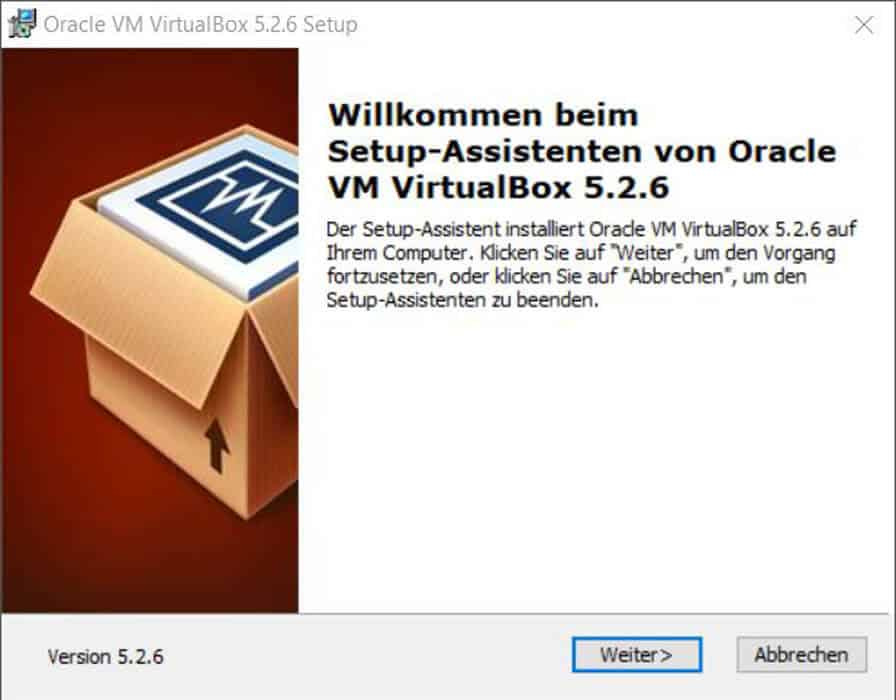VirtualBox auf Windows 10 installieren