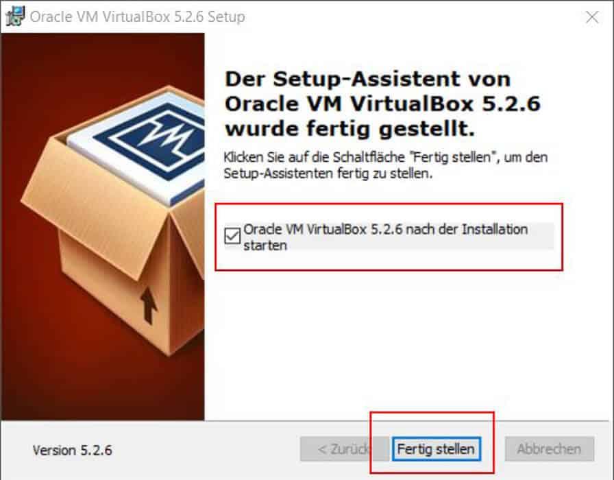 VirtualBox installieren Teil 9