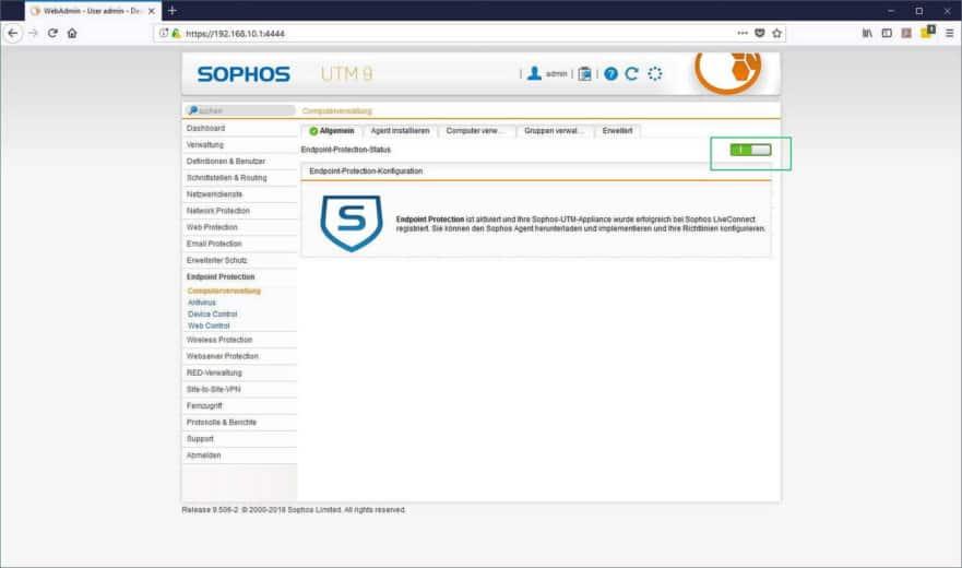 Sophos UTM Endpoint Protection - Computerverwaltung