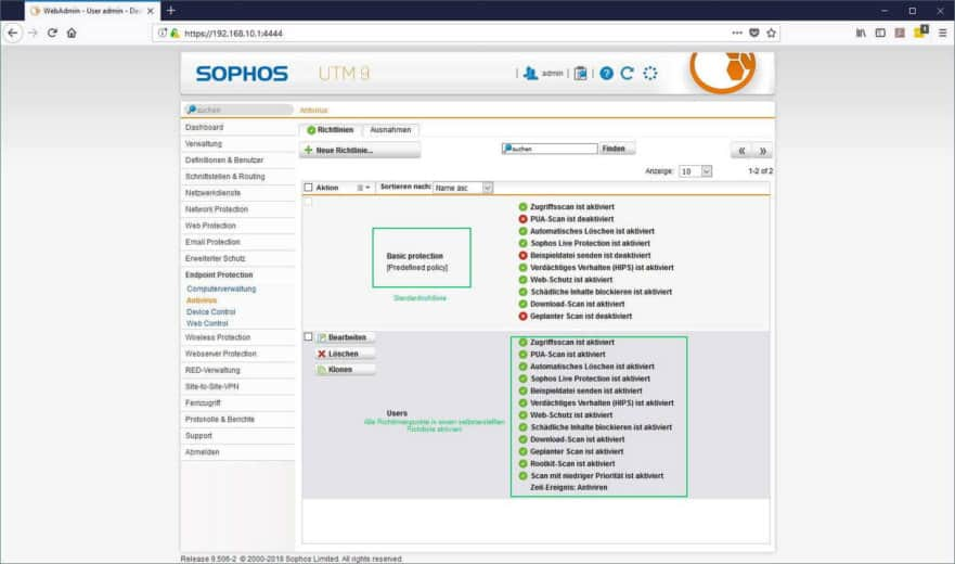 Sophos UTM Endpoint Protection - Basic Protection