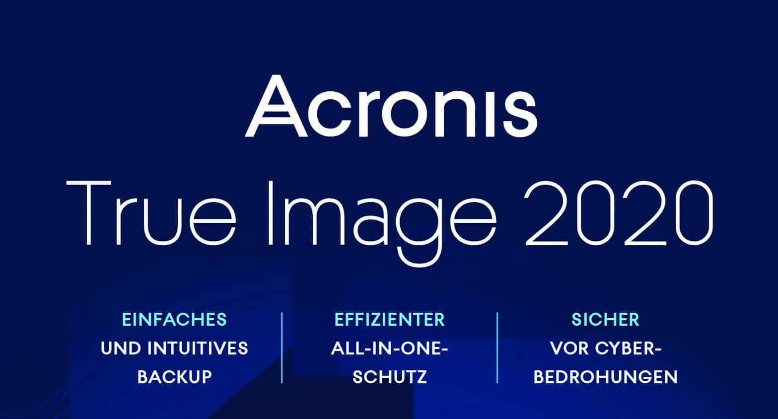 Backups mit Acronis True Image 2020 erstellen