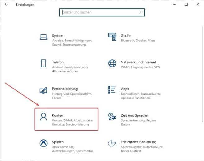 Windows 10 Passwort ändern 1