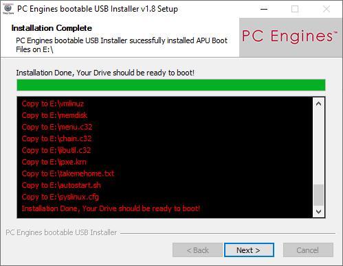 TinyCore USB-Installer Bild 3