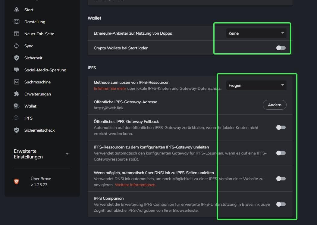Sichere Konfiguration Brave Browser Bild 7