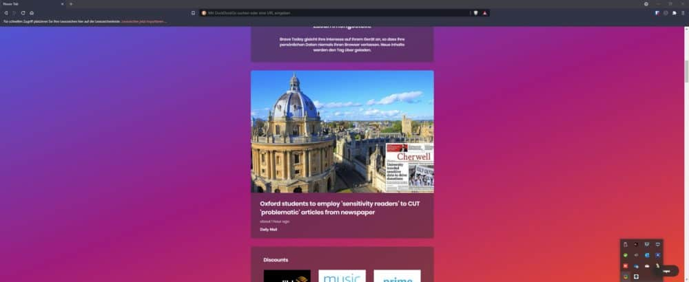 Dashboard Brave Browser