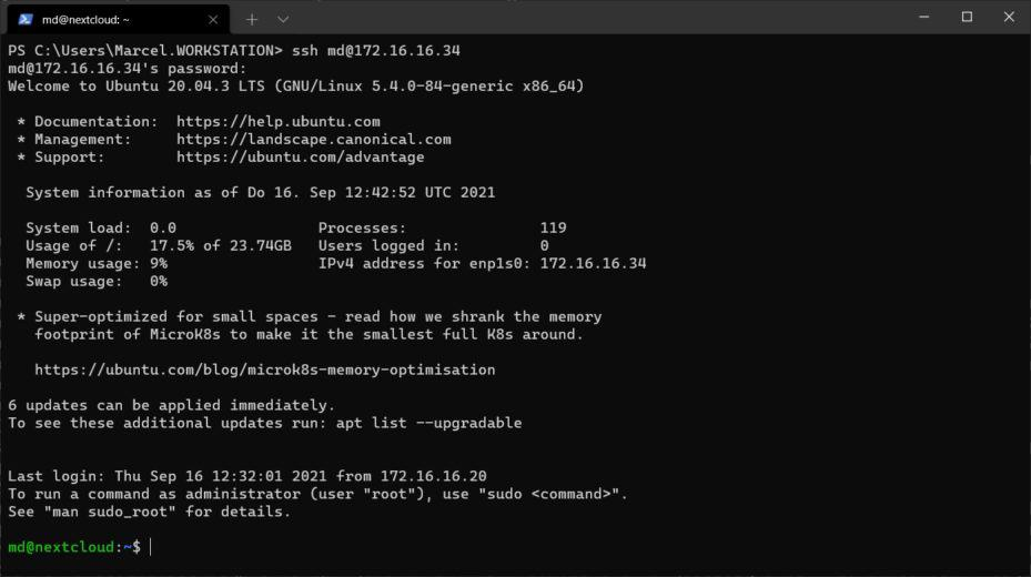 WindowsTerminal - Ubuntu Server Installation
